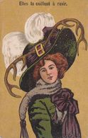 Illustrateur Humoristique Jeune Femme Elegante Art Deco Coiffée De Belles Cornes Cocu Infidelité - 1900-1949
