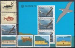 MADEIRA  Jahrgang 1986, Postfrisch **, 104-110 + Block 7 - Madeira