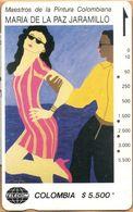 Colombia - CO-MT-48, Tamura, Pareja Caribe, Maria De La Paz Jaramillo, Art, 5,500 $, 10.000ex, Used As Scan - Kolumbien