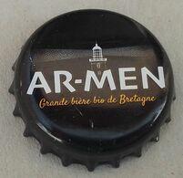 France Capsule Bière Crown Cap Beer Ar-Men Grande Bière Bio De Bretagne - Birra