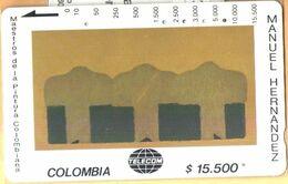Colombia - CO-MT-46, Tamura, Secuencia Alineada, Manuel Hernandez, Art, 15,500 $, Used As Scan - Kolumbien