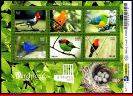 Ref. BR-3098 BRAZIL 2009 - LUBRAPEX, BIRDPEX,, LUSH BIRDS, FAUNA, S/S MNH, BIRDS 6V Sc# 3098 - Colecciones & Series