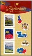 """Liechtenstein 2020: """"I Love Liechtenstein"""" Folder Mit 3 Selbstklebe-Marken Feuillet 3 T-p Autoadhesives ** (DieMarke Li) - Blocks & Sheetlets & Panes"""