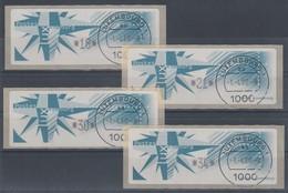 Luxemburg ATM Monétel Windrose Mi.-Nr. 4  Satz 18-21-30-34 Mit Tarif-ET-O  - Vignettes D'affranchissement