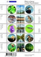 MDB-BK10-601 MDS MBP MINT ¤ NETHERLANDS 2015 10w In Serie  ¤ FLORA & FAUNA VAN HET NAARDERMEER BIRDS FLOWERS SNAKES - Vögel
