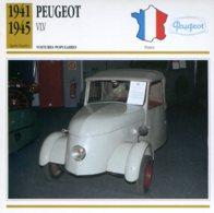 France 1941-45 - Peugeot VLV - Voitures