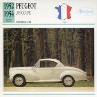 France 1952-54 - Peugeot 203 Coupé - Voitures