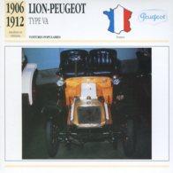 France 1906-12 - Lion Peugeot Type VA - Voitures