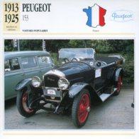 France 1913-25 - Peugeot 153 - Voitures