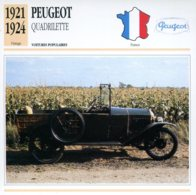 France 1921-24 - Peugeot Quadrillette - Voitures