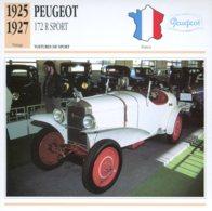 France 1925-27 - Peugeot 172 R Sport - Voitures