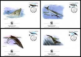 South Africa 1998 WWF W.W.F. 4x FDC Cetaceans Fauna Marine Life - FDC