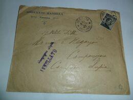 Italia  REGNO BUSTA COMMERCIALE   1910  DA VENEZIA  A  CAMPANIA LUPIA  ANNULLO QUADRATO - Storia Postale