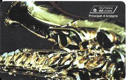 CARTE*-PUCE-ANDORRE-50U-AND 54-SC7-07/96-JAZZ SAXO-Utilisé-TBE - Andorra