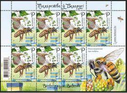 Belarus 2020 Beekeeping In Belarus Honey Bee Sheet Weißrussland - Belarus