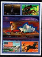 2000 Ghana  Olympics Complete Set Of 1 Miniature Sheets  MNH - Ghana (1957-...)