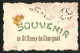 CPA Saint-Remy-de-Chargnat, Bestickte Karte Avec Schmetterling - Non Classificati