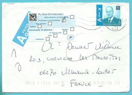 Brief Naar France Met Strookje PLI NON DISTRIBUABLE - Belgium