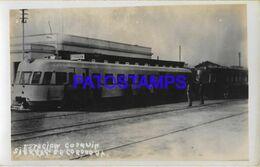140747 ARGENTINA CORDOBA COSQUIN ESTACION DE TREN STATION TRAIN POSTAL POSTCARD - Argentina