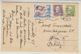 Zensur-Karte Mit JUL Marke 1947 Aus HELLERUP 21.12.47 Nach Wien - Briefe U. Dokumente