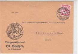 Brief Vom Bürgermeisteramt St.Georgen Aus SANKT GEORGEN 16.1.35 - Briefe U. Dokumente