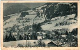 41hn 1015 CPA - SAINT GERVAIS LES BAINS EN HIVER - LE BOURG - Saint-Gervais-les-Bains