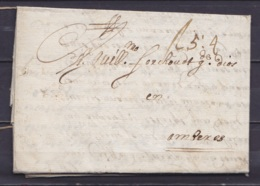 """L. (en Néerlandais) Datée 13 Décembre 1671 De CADIZ (Cadix) Pour AMBERES (= Anvers) - Port """"5:4"""" (= 5 Sh. 4) - 1621-1713 (Spanische Niederlande)"""