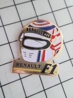 713M Pin's Pins / Beau Et Rare / THEME : SPORTS / AUTOMOBILE F1 CASQUE INTEGRAL RENAULT ELF - Automobilismo - F1