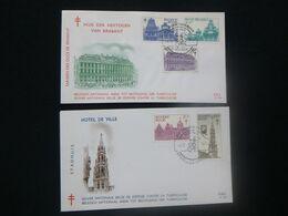 """BELG.1965 1354/1358 FDC's :  """" Grand Place De Bruxelles/Brussel Grote Markt """" - 1961-70"""