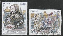 FRANCE 2016 ISSU BLOC OBLITERE LES GRANDES HEURES DE L HISTOIRE 5067 + 5068- - Gebraucht
