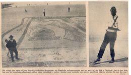 Orig. Knipsel Coupure Tijdschrift Magazine - Oostende -  Zandtapijt Door Oorlogsslachtoffer - 1922 - Non Classés
