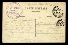 CACHET HOPITAL MUNICIPAL AUXILIAIRE N°24 BIS - 157 GDE R ST CLAIR LYON - Storia Postale