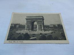 PARIS    75 PLACE DE L ETOILE  BUS  VOITURES  1940 Ecrite En Allemand - Plätze