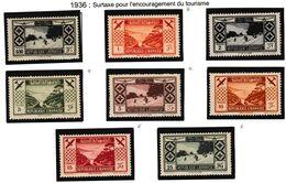 Grand Liban 1936 N° PA49 à 56* - Luchtpost