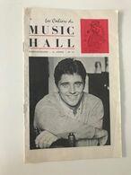 Ancien Programme MUSIC HALL (1966) Dédicacé Par Sacha DISTEL Et Dionne WARWICK - Programme