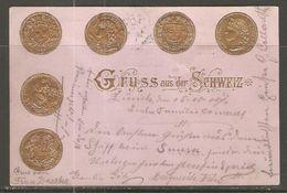 Carte P De 1900 / Suisse  ( Monnaies De Banque / Représentation ) - Monete (rappresentazioni)