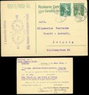 19291 Schweiz GS Karte Mit Privat Zudruck Blumenegg Goldach - Leipzig 1915, Bedarfserhaltung. - Stamped Stationery
