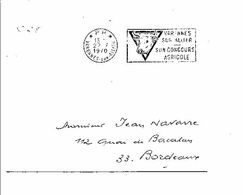 1 ER JOUR FLAMME PORT PAYE CONCOURS AGRICOLE DE VARENNES SUR ALLIER 1970 - Maschinenstempel (Werbestempel)