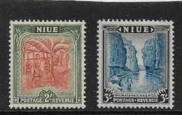 NIUE 1950 TOP 2 VALUES OF THE SET 2s, 3s SG 121/122 LIGHTLY MOUNTED MINT Cat £12 - Niue