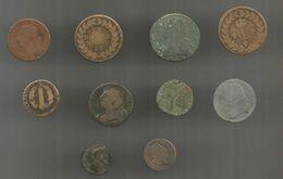 Vrac Monnaies , 10 Monnaies Royales à Identifier , 2 Scans , Frais Fr 4.95 E - Mezclas - Monedas