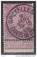 Belgique N° 67 Oblitération Bruxelles Effets De Co?? 9 JANV 1906 - 1893-1907 Stemmi