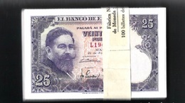 Spain España Espagne 1 PCS 1 NOTE 1 BANKONOTE 25 Pesetas 1954 UNC - 25 Pesetas