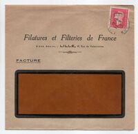 - Lettre FILATURES ET FILTERIES DE FRANCE, LILLE 11.9.1945 - 1 F. 50 Groseille Marianne De Dulac - - Briefe U. Dokumente