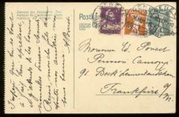 19708 Schweiz GS Karte Gezähnt + Marken Genf - Frankfurt 1921 , Bedarfserhaltung. - Stamped Stationery
