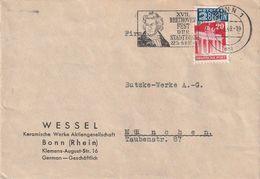"Bizone / 1949 / Brief EF, Stempel Bonn ""Beethoven-Fest"" (DA63) - American/British Zone"