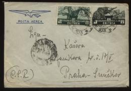 20038 Italien Eritrea Militär Brief 103 - Prag 1940, Bedarfserhaltung. - Eritrea