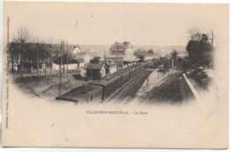 69 VILLEVERT-NEUVILLE  La Gare - Estaciones Con Trenes