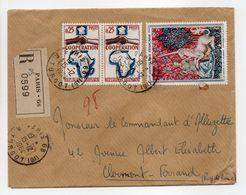- Lettre Recommandée PARIS Pour CLERMONT-FERRAND 15.12.1964 - Bel Affranchissement Philatélique - - Briefe U. Dokumente