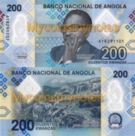 ANGOLA 200 Kwanzas 2020 - Black Stone In Malanje, PNEW, Polymer, UNC - Angola