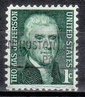 USA Precancel Vorausentwertung Preo, Locals Pennsylvania, Hustontown 841 - Estados Unidos